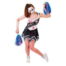 Black Zombie Cheerleader Costume For Halloween