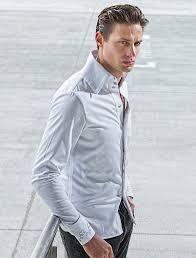 white cotton high collar shirt manjari ser creation