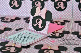 minnie mouse invitations jingvitations cricut handmade minnie mouse pop up invitations