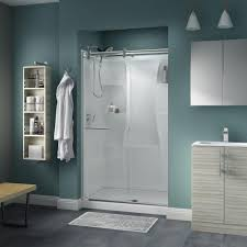48 Shower Doors Delta Simplicity 48 In X 71 In Semi Frameless Contemporary Style