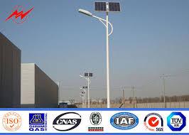 Residential Outdoor Light Poles Energy Saving 10m Residential Outdoor Light Poles Single Arm