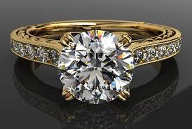 yellow gold engagement ring yellow gold engagement ring milgrain band ritani