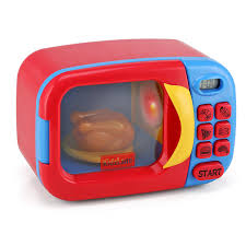 Play Kitchen Red Amazon Com Kidzlane Microwave Oven Toy For Kids Pretend Play