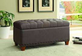 Storage Ottoman Bench Tufted Storage Ottoman Bench In Mocha Brown Fabric By Coaster