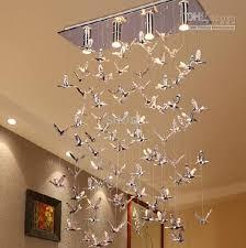 Chandelier Acrylic Selling Modern Minimalist Acrylic Bird Led Chandelier Living