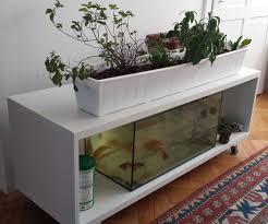 ikea shelf turned into an indoor aquaponics system 4 steps with