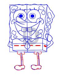how to draw spongebob step by step drawing guide by darkonator