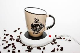 amazon com desktop heated coffee tea mug warmer candle u0026 wax