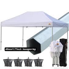 Heavy Duty Gazebo Bag by Commercial Grade Std 10x10 White Canopy Tent Pop Up Gazebo Canopy
