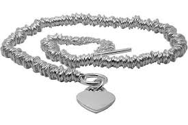 charm heart necklace images Sweetie silver necklace with heart charm toggle t bar fastening jpg