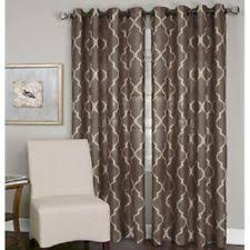 window curtains and drapes in color brown pattern geometric ebay