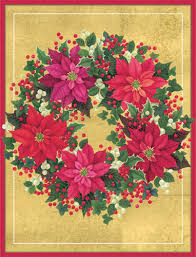 caspari cards caspari poinsettia wreath boxed christmas cards