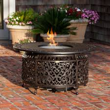round propane fire pit table paramount cast aluminium round propane fire table fire pits