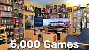 metal jesus game room tour 5000 games youtube