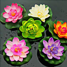 floating flowers artificial water lotus pond pool floating flowers decor