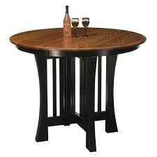 arts u0026 crafts pub extension table amish pub tables u2013 amish tables