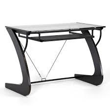 amazon com baxton studio sculpten modern computer desk dark