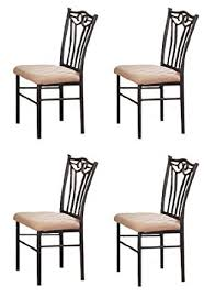 Metal Dining Chairs 4 Black Metal Dining Chairs By Poundex Chairs