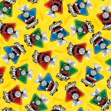 storybook character thomas tank engine cotton fabric 4my3boyz