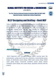 mep designing and drafting sylabus