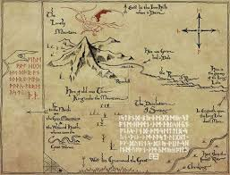 map hobbit map the hobbit pencil and in color map the hobbit