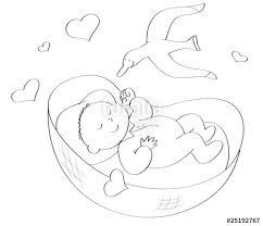 culle da neonato neonato nella culla da colorare immagini e fotografie royalty