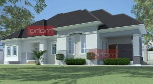 architectural design of a 4 bedroom bungalow home combo
