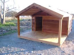 house porch large wooden dog house custom ac heated insulated dog house