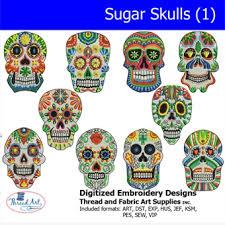 machine embroidery designs sugar skulls 1