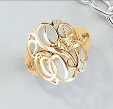 Monogram Ring Gold Gold Monogram Ring Ebay