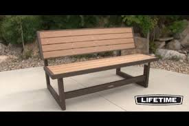 Lifetime Outdoor Furniture Lifetime Convertible Bench Video Gallery