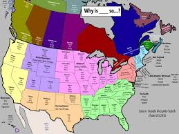 The Map Of North America by Google Autocomplete For North America Business Insider