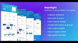 repolight business consult sketch template themeforest website