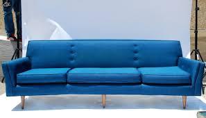 pre owned blue velour sofa lexington suede loversiq
