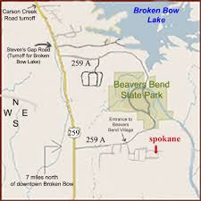 Beavers Bend State Park Map by Beavers Bend Map Images