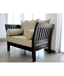 Solid Wood Furniture Online India Stratego Solid Wood Sofa Set With Cushion And Covers 3 1 1 Buy