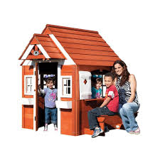 Backyard Cedar Playhouse by Cedar Chalet Playhouse Playhouse Backyard Discovery