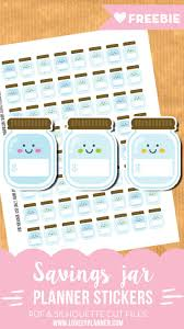 savings planner template best 25 savings planner ideas only on pinterest budget planner free cute savings jar stickers for your planner 64 stickers included pdf and silhouette