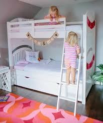 Girls Bedrooms With Bunk Beds Stella And Hazel U0027s Shared Bedroom With Hayneedle Design Improvised
