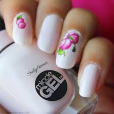 agape love designs floral mani sally hansen miracle gel polish