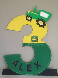 big number 3 of john deere theme party decoration follow me on