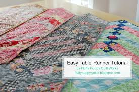 fluffy puppy quilt works easy french braid table runner tutorial