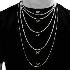 solid copper necklace images Necklace chain length chart caymancode jpg