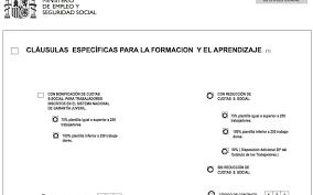 bonificaciones contratos 2016 en el modelo oficial del contrato de formación y aprendizaje