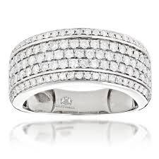 mens wedding band designers mens diamond wedding band designer ring by luxurman 1 5ct