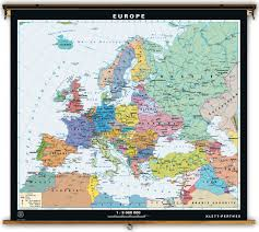 Physical Map Of Europe Rivers by Klett Perthes Dual Sided Political U0026 Physical Map Of Europe