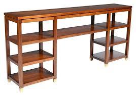 Open Shelving Room Divider Open Bookcases Mid Century Open Wood Console Bookshelf Est Retail