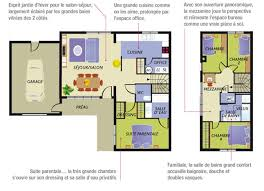 plan maison 4 chambres suite parentale plan maison moderne 4 chambres suite parentale garage nacre jpg 646