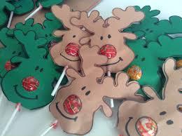 christmas gift reindeer nose lollipops