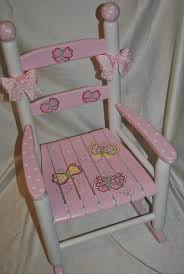 Baby Furniture Chair Childrens Custom Hand Painted Whimsical Pink Butterfly Childrens